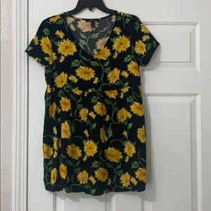 Forever 21 Sunflower TShirt Dress